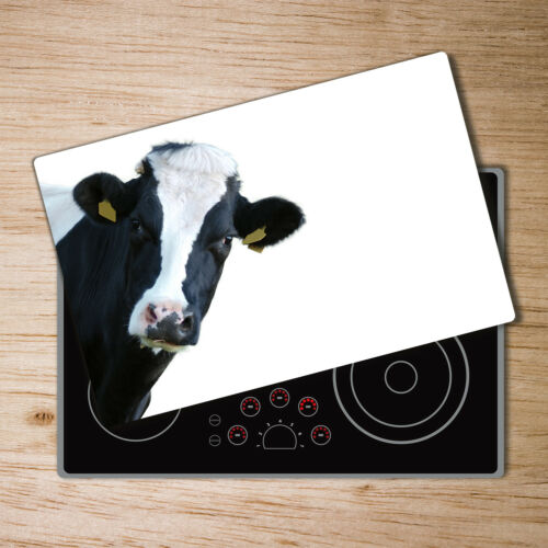 Glas-Herdabdeckplatte Ceranfeldabdeckung Spritzschutz 80x52 Kuh