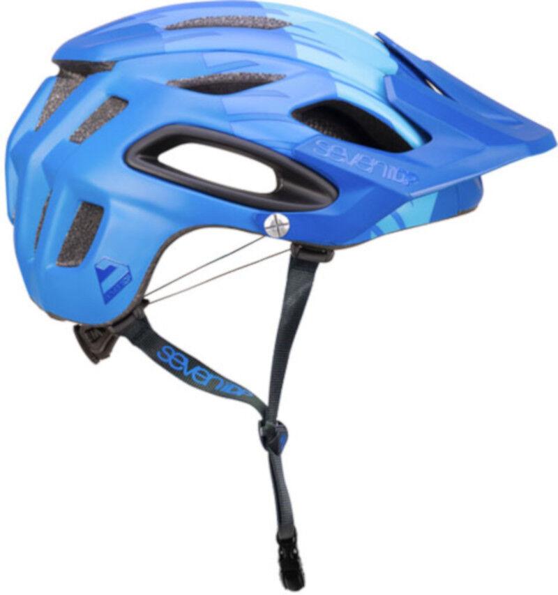 Seven 7iDP M2 MTB Bike Helmet Tactic 'Boa' Navy Mid Light bluee