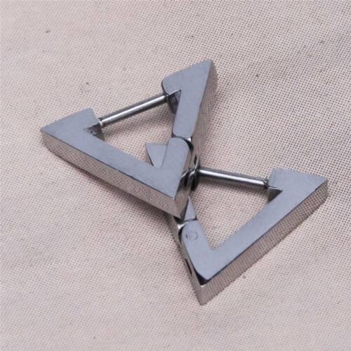 Unisex Fashion Punk Style Earrings Triangle Piercing Ear Stud Earrings ONE