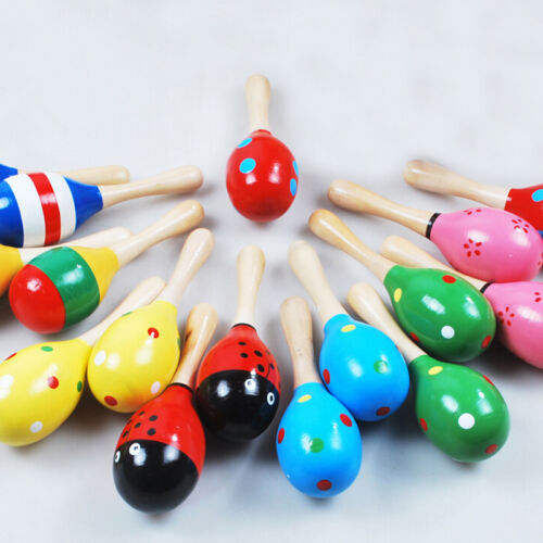 Baby Kids Sound Music Toddler Rattle Musical Wooden Colorful Toys Xmas YN Q