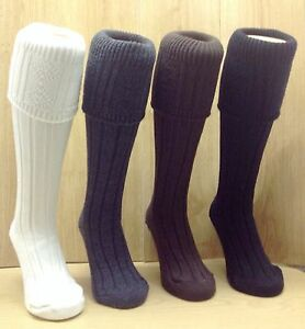 Comfortable Thick Chunky Knit Kilt Hose Socks Great Colours. UK Made. eBay