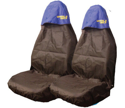 Vauxhall Insignia Car Front Seat Protector Heavy Duty Waterproof Cover Blue Pair