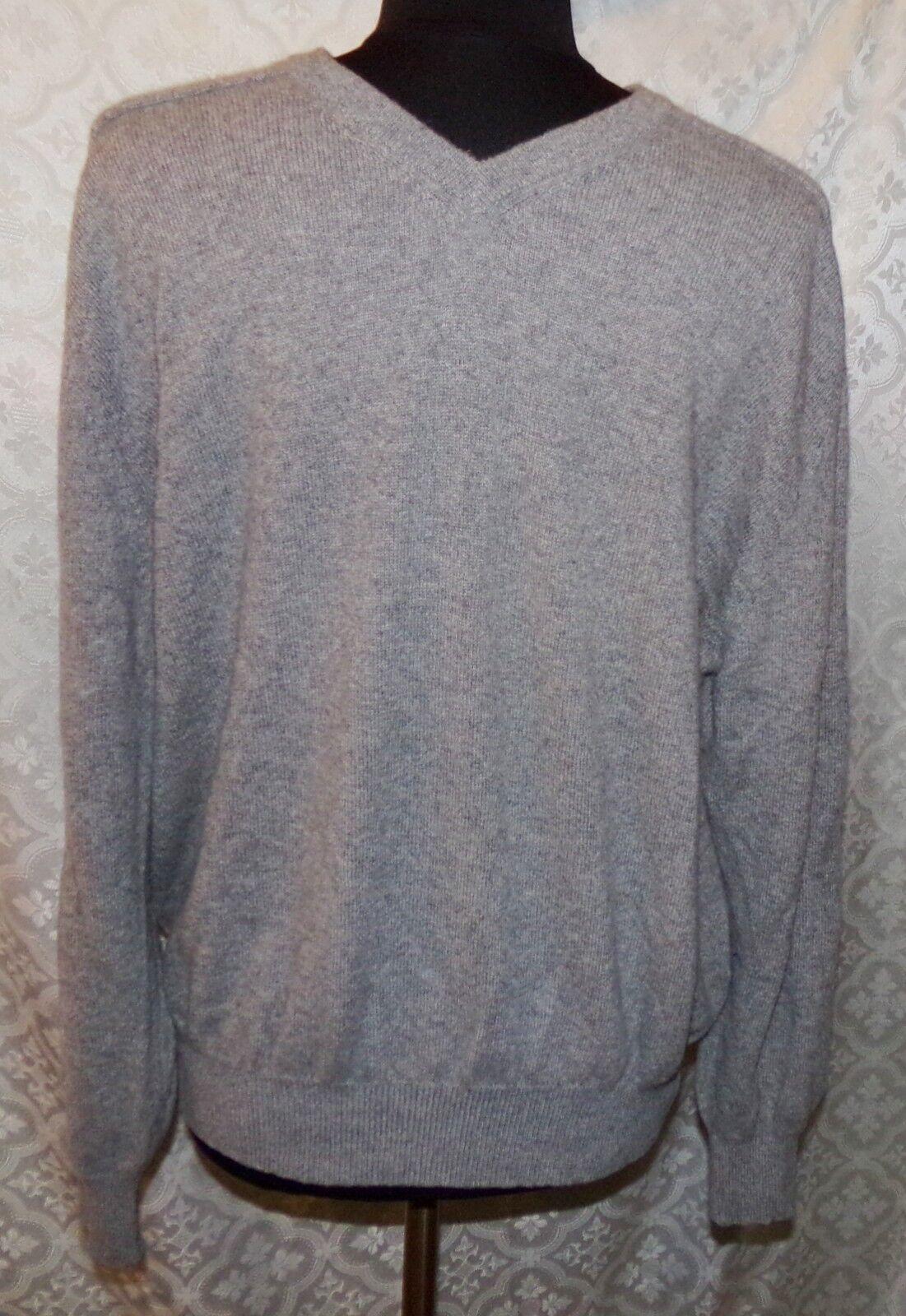 Daniel Cremieux Unterschrift Sammler 100% Kaschmir V-Ausschnitt Grau XL | Speichern