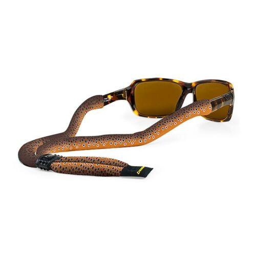 Croakies Print Suiter XL Brown Trout Fishskin Poly Adjustable Eyewear Retainer