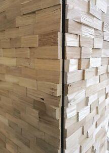 Details zu 3D-Wandpaneele, Paneele, Holzpaneele, Wandverkleidung, Holz,  Wandverblender