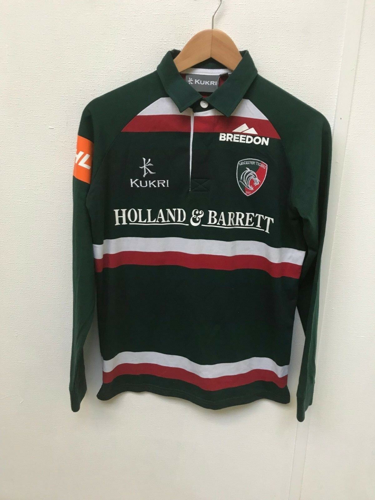 Leicester Tigers Kukri Rugby Women's Classic LS Shirt - Size 12 - Green - New