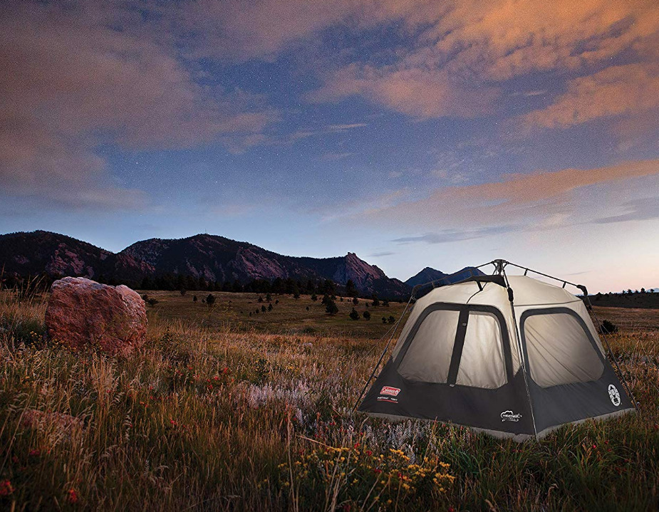 Coleman Carpa para 4 personas instantánea tipo tipo instantánea cabaña campamento familia configuración fácil configuración rápida de la tienda 1b8f9b
