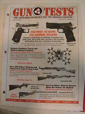 Gun Tests Magazine March 2003 Polymer .45 ACP Pistols SKS & Survival Rifles Snub