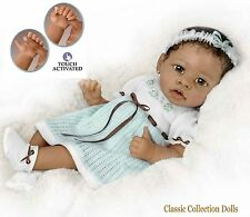 "Ashton Drake ""ALICIA'S GENTLE TOUCH"" - INTERACTIVE LIFELIKE BABY GIRL DOLL - NEW"
