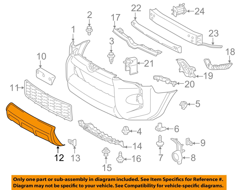 TOYOTA OEM 03-05 4Runner-Bumper Spoiler-Valance Panel Lip Chin 5390135150B0