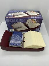 Rolodex Burgundy Rotary Business Card File With 250 Ruled Cards New 67322