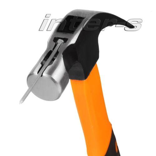 1x Klauenhammer 600g mit Magnet Hammer Dachdecker 2K Soft Griff Gummi Stiel
