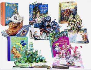 Best of Robert Sabuda 1st Ed., Signed Collection Set, Pop Up Book Lot