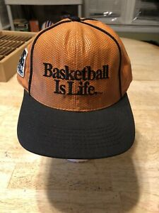 Big-Ball-Sports-Basketball-Is-Life-Hat-Snapback-Cap-Mens-One-Size-Vintage-USA