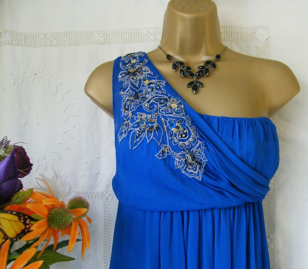 "*** ???? Monsoon Bnwt ""dominique Cobalt"" Robe Taille 16 ???? ***"