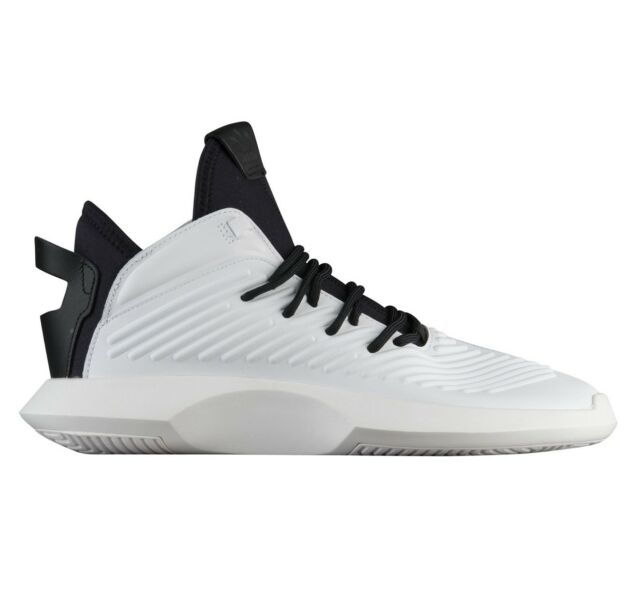 new product 7c2a9 1a377 ... shop adidas crazy 1 adv mens aq0320 white black leather basketball  shoes size 14 7f8ac c9487