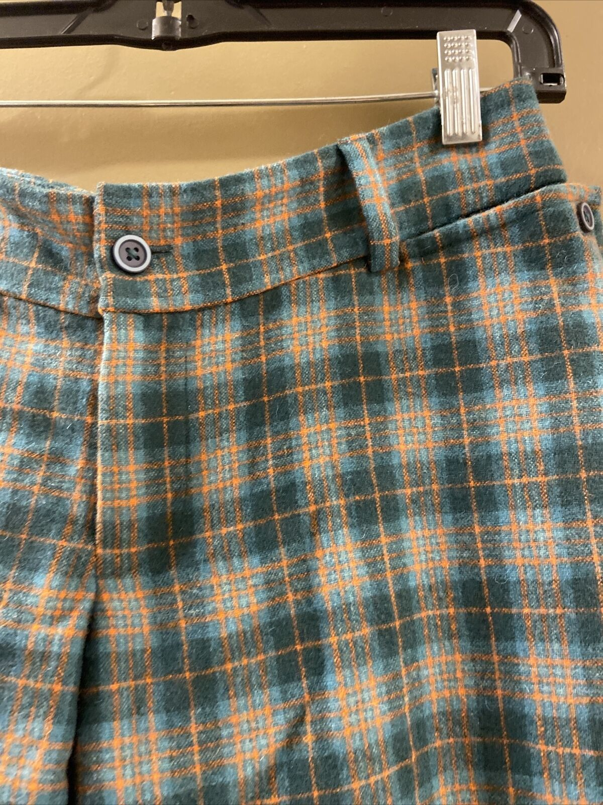 Penguin Wool Green Plaid Pants Sz 0 (item 9.8) - image 3