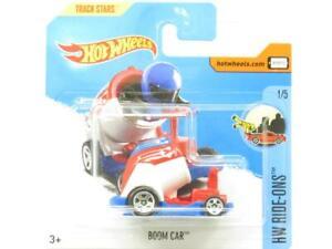 Hotwheels-Boom-coche-HW-RIDE-Ons-Rojo-Blanco-66-365-Tarjeta-Corta-1-escala-64-Nuevo-Sellado