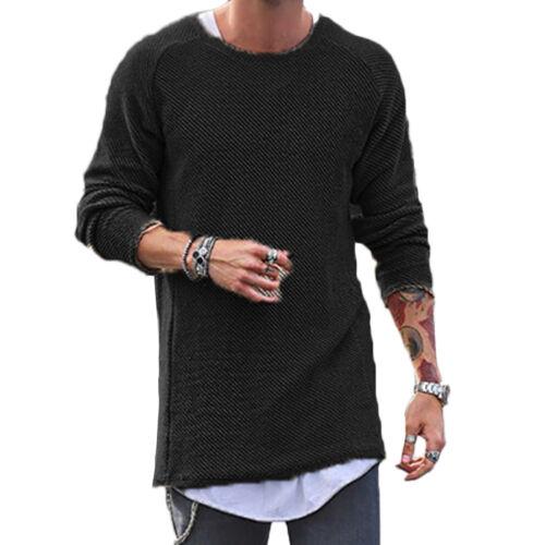 Men/'s Sweater Knitted Sweatshirt Long Sleeve Crew Neck Pullover Tops Jumper CA