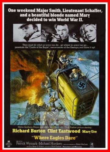 Where Eagles Dare    1960/'s Movie Posters Classic Cinema