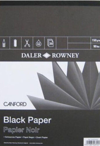Black 150gsm Paper Daler Rowney Canford Pad A3