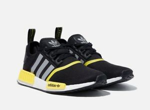 3b5222d5abf4 Image is loading Adidas-NMD-R1-Micropacer-F99713-Black-Yellow-Unisex-