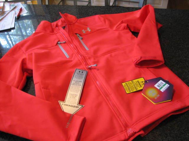 NWT -  Herren UNDER ARMOUR INFRAROT ColdGear ROT Front Zip Coat (XL)