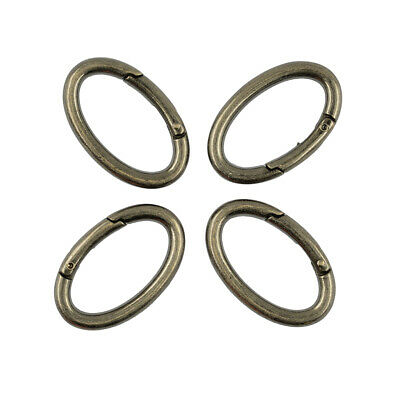 4pcs Strong Metal Oval Carabiner Clip Snap Spring Climbing Karabiner Hook