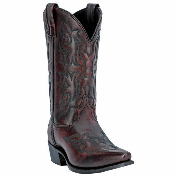 Laredo 6862  Men Hawk Burnished gold Leather Foot Snip Toe Western Boot