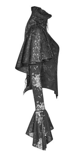 Jacquard Spitze Cape Bluse Hemd Gothic Barock Victorian Sticken Korsett PunkRave