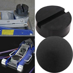 Universal-Slotted-Frame-Rail-Floor-Jack-Guard-Adapter-Lift-Rubber-Pad-Full-Size