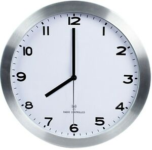 Reloj de pared 30cm radiocontrolado para comedor cocina salon habitacion 12 ebay - Reloj de pared para cocina ...
