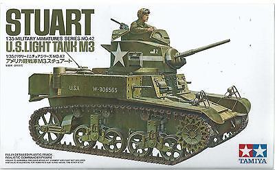 TAMIYA 1:35 KIT CARRO ARMATO TANK STUART U.S. LIGHT TANK M3   ART 35042