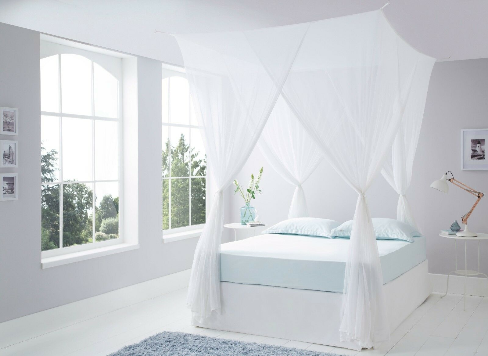 Luxurious Cotton Box Mosquito Net Bed Canopy Super King Größe 100% Quality Cotton