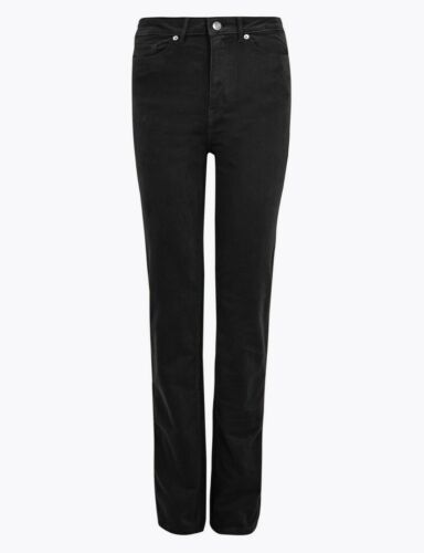 M/&S CORD Corduroy MID RISE Cotton Rich STRAIGHT LEG Trousers with Stretch