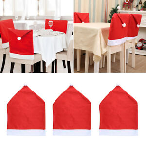 da07725819b37 Image is loading Santa-Red-Hat-Chair-Covers-Christmas-Decorations-Dinner-