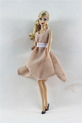 Handmade Fashion Dress Red Wine /& Pink Lace Evening Dress For 11.5 inches Doll