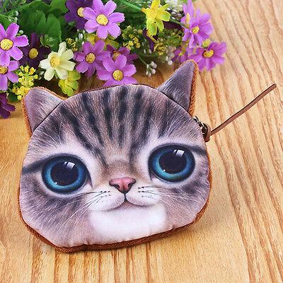 Nue Tasche Katzekopf Katze Börse Geldbörse Portemonnaie Geldbeutel Damen
