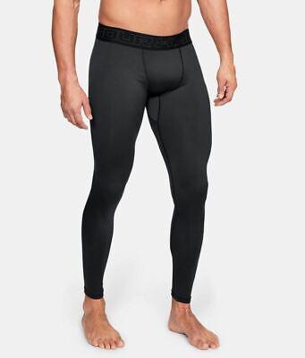 Men/'s Under Armour ColdGear Full Length Leggings Black 1320812-001