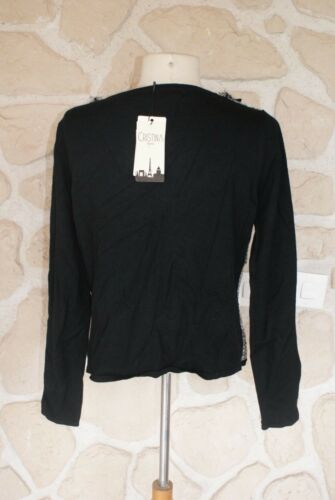 l Cristina Cardigan Paris New Size And M White dy Brand Black TTnYqa