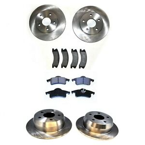 FRONT-AND-REAR-BRAKE-DISCS-PADS-FOR-JEEP-GRAND-CHEROKEE-2002-2004
