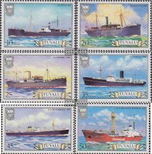Tuvalu-207-212-kompl-Ausg-postfrisch-1984-Frachtschiffe