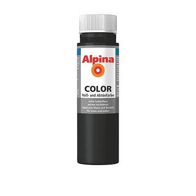 Alpina Color Night Black matt 250ml Schwarz Farbe Wandfarbe Abtönfarbe