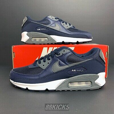 Details about Nike Air Max 90 Obsidian/White/Iron Grey DH4095-400 Men's