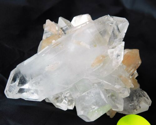 2 Large Apophyllite + Stilite Double Terminated Zeolite Mineral Crystal India
