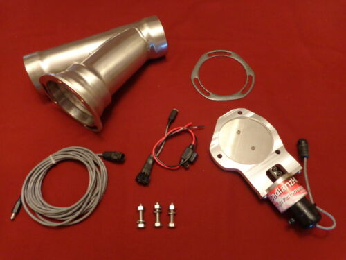 """Electric Exhaust Cutout BadlanzHPE SS Cutouts 3.0/"""" 76mm  5 YEAR WARRANTY!"""
