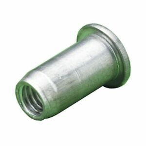 Details about M8 ALUMINIUM DOME HEAD RIVET NUT RIV NUT THREADED INSERT 8 x  11 x 17MM x 50