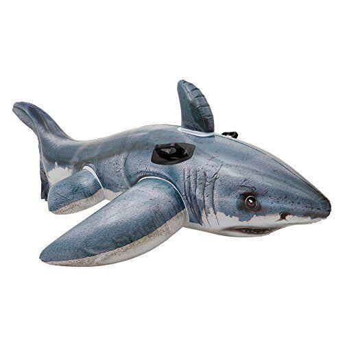 Intex Gonflable Great White Shark Rider Ride Sur Plage Jouet Lilo Natation Piscine Flotteur