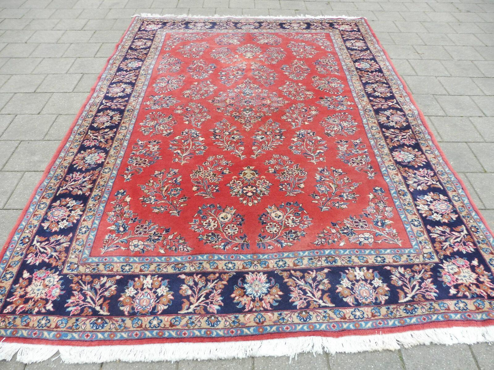 Belle, Vieux Tapis Tapis Vieux Oriental__285cm X 210cm ___ Signé 6d6207
