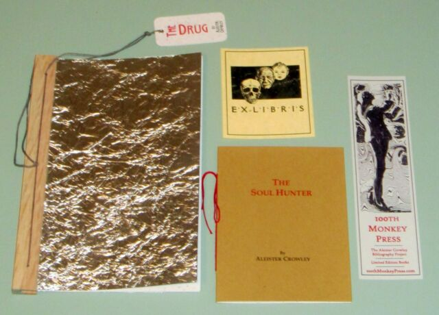 2 books LTD ED #113 ALEISTER CROWLEY THE DRUG PEYOTE THE SOUL HUNTER Psychedelic